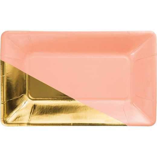 DTC329884APLT: CC Coral and Gold Foil Appetizer Plates